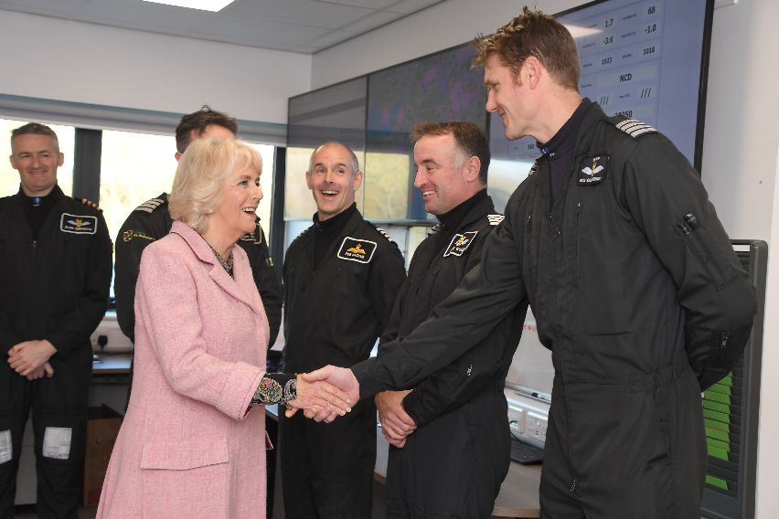 HRH with WAA pilots
